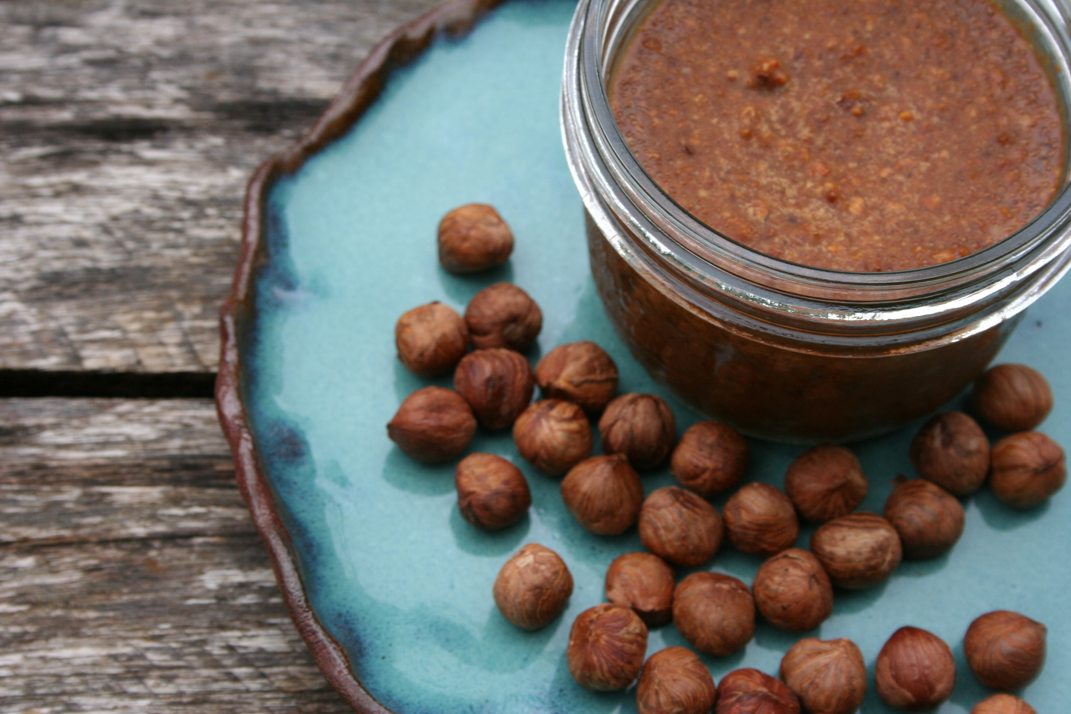 sprouted hazelnut coconut oil spread - WoolyMossRoots