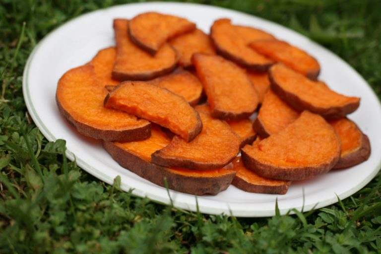 Baked Sweet Potato Slices