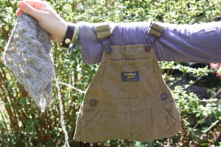 Baby Overalls To Knitting Bag
